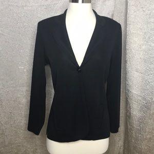 Misook Black Knit Fitted Blazer Size XS